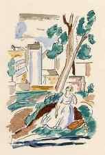 Adolphe resorte-tagträumereien i 1929-colorierte Litografia aufperrigot arches