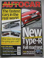 Autocar 31/1/2007 featuring Honda Civic Type-R, BMW M3, Mercedes, Ford Cosworth