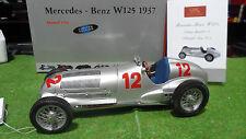 MERCEDES BENZ W125 de 1937 Caracciola #12 GP Alemania 1/18 CMC M-052 coche mini
