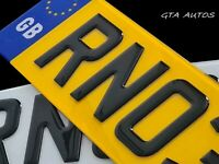 GB Pair Of 3D Gloss Black Domed Resin Raised Gel Reg Car Van Number Plates Legal