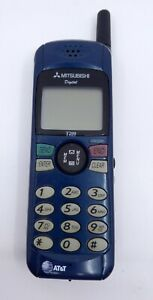 Mitsubishi Cell Phone T200 Blue AT&T Digital PCS Cellular Vintage Collector