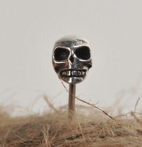 Silver 925 Skull Ear Studs  Pair Steam Punk Gothic Bead