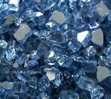 "42 Lbs ~1/4"" Pacific Blue Reflective Fireglass Fireplace glass Fire Pit Glass"