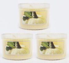 3 Bath & Body Works CREAMY PUMPKIN Travel Size Scented Mini Candle 1.3 oz