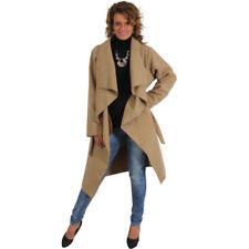 Cappotti e giacche da donna trench marrone fantasia nessuna fantasia
