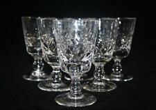 BRIERLEY LIQUER SHERRY GLASSES X 6 BRUCE PATTERN SML MEASURE EXCELLENT CONDITION