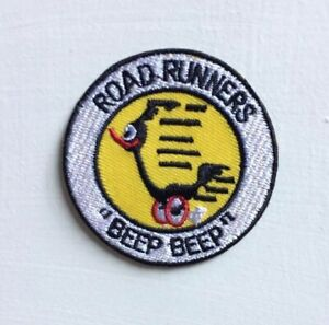 Road Runners animated cartoon Art Badge Iron or sew on Embroidered Patch