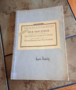 Der Holzdieb - Komische Oper in einem Aufzuge * Klavierauszug mit Text