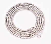 """36"""" 3mm Octagonal Men's Shiny Snake Chain Necklace Real Sterling Silver 925"""