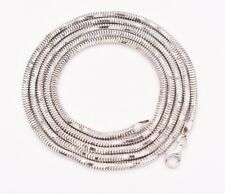 "36"" 3mm Octagonal Men's Shiny Snake Chain Necklace Real Sterling Silver 925"