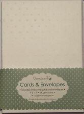 """Envelopes 60x White Polka Dot 5/""""x7/"""" Embossed Card Blanks Dovecraft"""