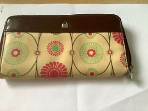 Boxed Burgundy Pink & Lime BILLY BAG Floral Leather Floral Print Purse