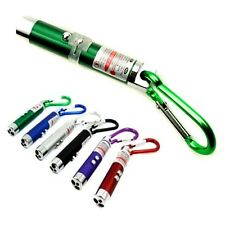 3 in 1 LED Laser Pointer Flash Light Ultraviolet UV Keychain Torch Cat Dog Toy