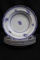 Set 6 Copeland Spode Blue Gloucester Fine Stone China Large Soup/Pasta Bowl