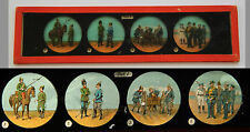 Ancienne plaque verre magic lanterne magique fin XIX Collec Officier & Soldats 1