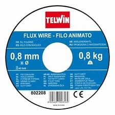 BOBINA TELWIN FILO ANIMATO NO GAS FLUX WIRE  KG 0.8, DIAMETRO MM 0,8 SALDATRICE