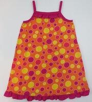 Hanna Andersson Dress Girls Sz 110 5-6 Years Spaghetti Strap Summer Polka Dot