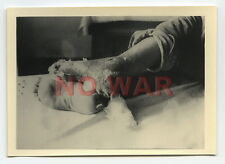 WWII ORIGINAL GERMAN PHOTO WOUNDED SOLDIER AFTER THE BATTLE VICTIM OF WAR