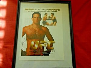 Murilo Bustamante Signed UFC Photo  Picture Autograph framed in good condition..