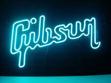 "New Gibson Guitar Music Decorate Handcrafted Neon Light Sign 17""X14"""