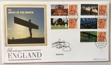 Benham 23.4.2007 Glorious England FDC Angel Of The North Signed SIMON KING Biker