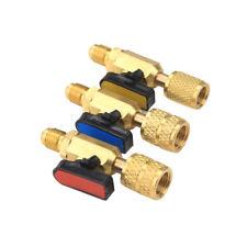 HVAC A/C Straight SHUT-OFF Ball Valve Adapter For R134a R22 R12 R410a 1/4
