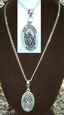 "18 Inch or 24"" Inch Necklace & St Christopher Saint Άγιος Χριστόφορος Catholic"