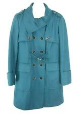 Hydraulic Womens Ladies Teal Double Breasted Winter Coat Size XL