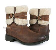 UGG Blayre III Chipmunk Leather Fur Boots Womens Size 8 *NIB~