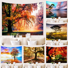 Hippie Tree Nature Scenery Tapestry Wall Hanging Art Bedspread Throw Home Decor