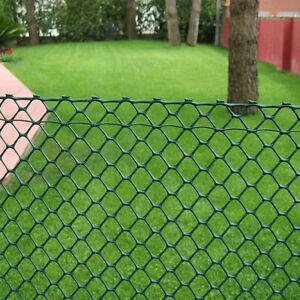 Heavy Duty Hexagonal Garden Fence Rigid Plastic Mesh Landscaping Green, 4 Sizes