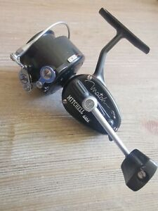 Vintage Black Mitchell 440A Match Reel Near Pristine Condition (Serial # Q-1-07)