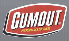 "GUMOUT DECAL RAT ROD TOOL BOX COOLER STICKER 1"" X 3"" IN SIZE"