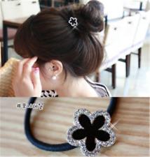 1stk. Strass Blume Damen Haargummi Mädchen Haarband Haarring Geburtstag Geschenk
