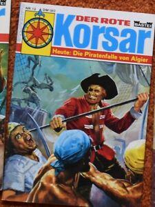 Der Rote Korsar Nr. 12  Comic Original 70er div Ausgaben