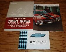 1970 Chevrolet Chevelle Shop Service Owners Manual Sales Brochure Lot of 3