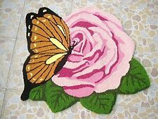 Romantic Rose Rug Butterfly Doormat Area Rug Area Rugs Home Decor( 30'' * 26'' )