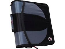 "Case It The Dual 2 in 1 Dual Ring Binder 3"" Capacity D-Rings Dual-101 Black"