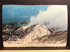 Trail to the Clouds Pikes Peak Colorado Mountain Vintage Postcard Posted 1978