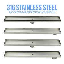 316 Stainless Steel Tile insert Shower Grate  Floor Drain 50/80mm Outlet Waste