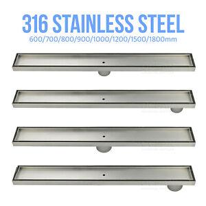 316 Stainless Steel Tile insert Shower Grate  Floor Drain 50/80mm Outlet Waste