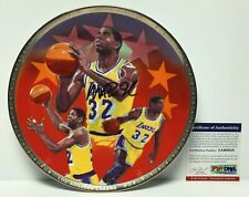 Magic Johnson Signed Lakers Sports Impressions Collectors Plate PSA 5A60058