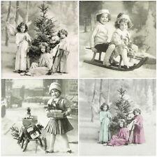 4x Tovaglioli di carta per Decoupage CRAFT Old Time mix di Natale