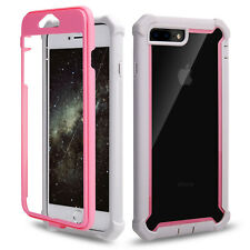 Hybrid Shockproof Heavy Duty Clear Case Fits iPhone XS Max/XR/X/6/6s/7/8 Plus 5