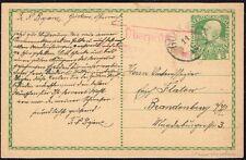 1653 AUSTRIA EMPIRE TO GERMANY CENSORED PS STATIONERY CARD 1916 GORKAU -POLAND-