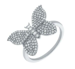 Goldenstar 0.55ct. Natural Diamond Butterfly Ring