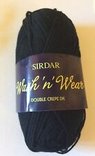 Sirdar Wash N Wear DK 10 x 50g balls shade 275 Black