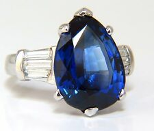 GIA Certified 13.94ct Lab Sapphire diamonds ring vivid blue 14kt