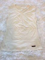 GOLITE Jasper Womens Sleeveless Top White Tank Too Shirt Workout Casual Small