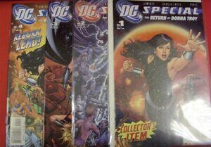 DC SPECIAL RETURN DONNA TROY 1-4 COMIC SET COMPLETE WONDER GIRL PEREZ 2005 NM